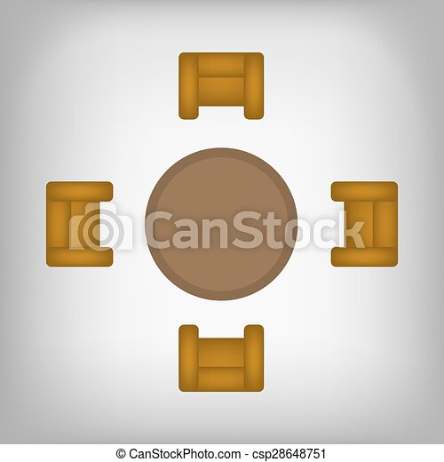 Drawings of Poker table with chairs top view csp5874673 Search