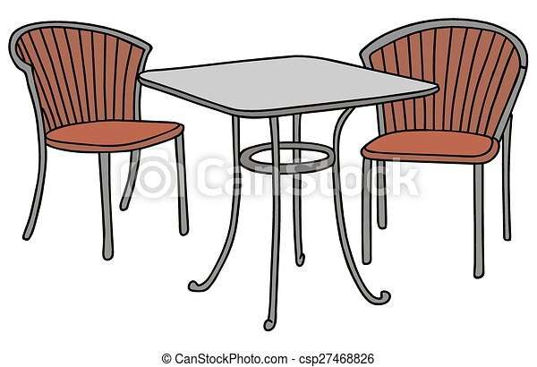 Table And Two Chairs   Csp27468826