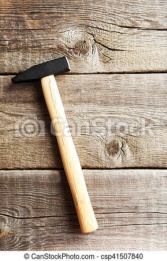table bois, marteau, gris, nouveau - csp41507840