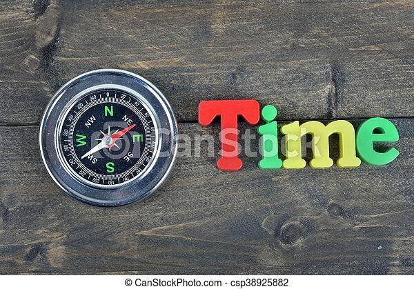 table bois, temps - csp38925882