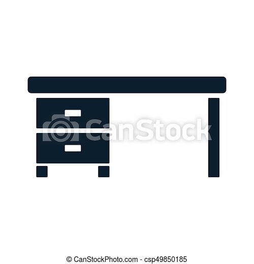 table bureau ic ne lieu travail bureau bureau lieu vecteur search clip art. Black Bedroom Furniture Sets. Home Design Ideas