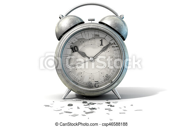 Table Clock Time Running Out - csp46588188