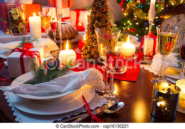 table, décoré, specially, noël - csp16130221