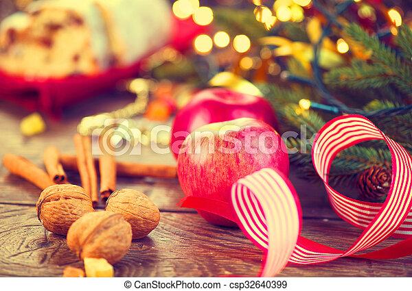 table, décoré, vacances, monture, noël - csp32640399