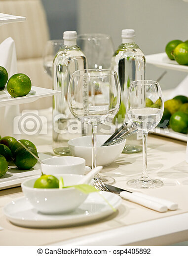 Table decoration with lime - csp4405892
