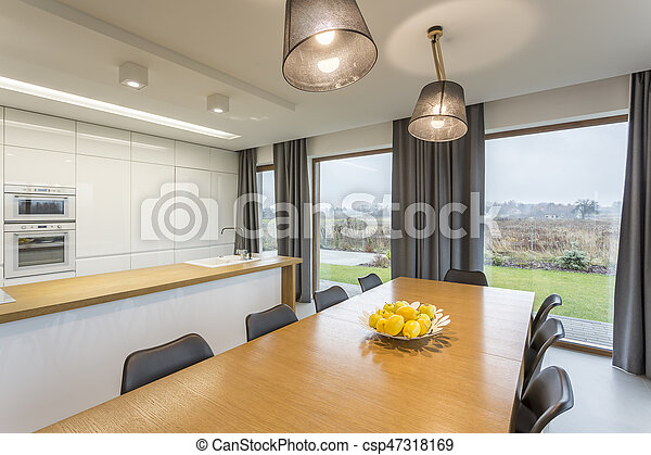 Table in dining room - csp47318169