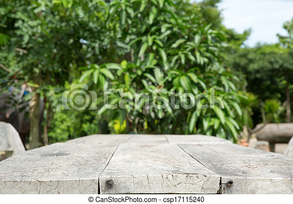 table in garden - csp17115240