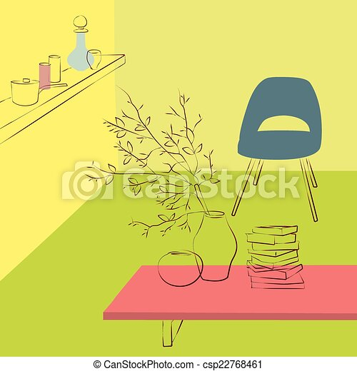 table in living room - csp22768461