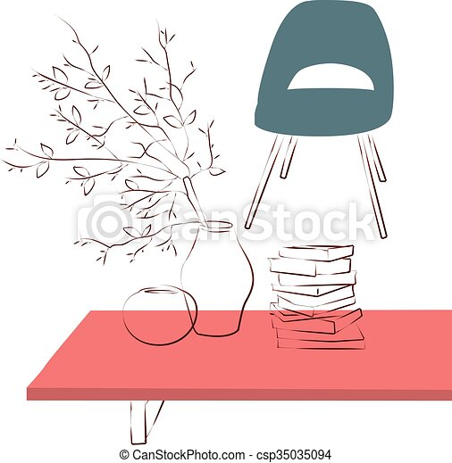 table in living room - csp35035094