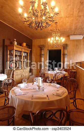 table in restaurant - csp3403524
