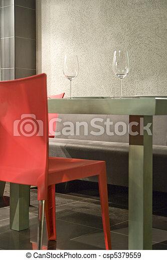 table in restaurant - csp5379559