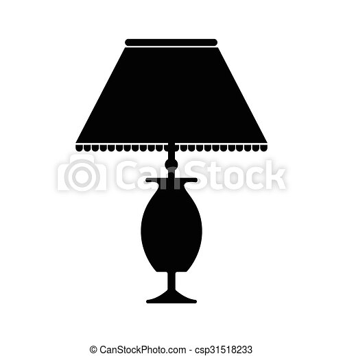 Table Lamp Icon Black Design Style On White Background