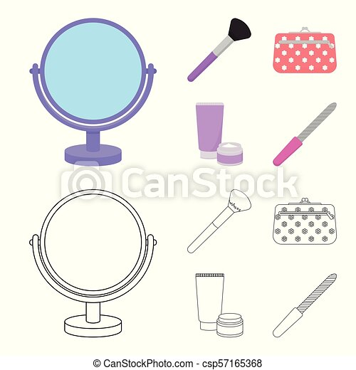 Tremendous Table Mirror Cosmetic Bag Face Brush Body Cream Makeup Set Wiring Digital Resources Nekoutcompassionincorg