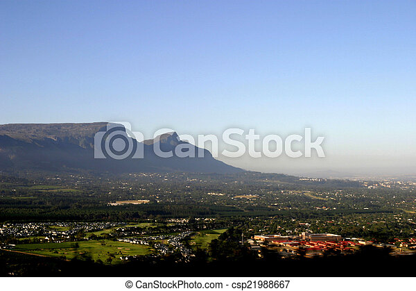 Table mountain in Cape Town, South Africa - csp21988667