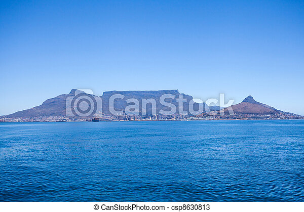 table mountain in Cape Town, South Africa - csp8630813