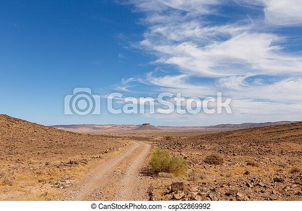 table mountain in the Sahara desert, Morocco - csp32869992