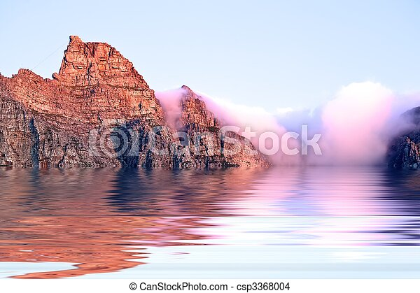 Table mountain under water. - csp3368004