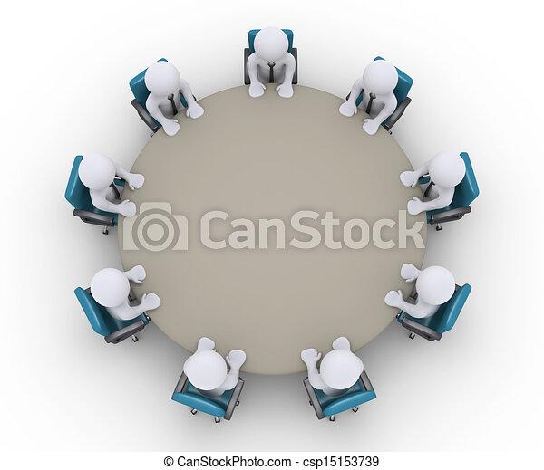 Table r union autour de hommes affaires autour de dessins rechercher clipart - Autour de la table ...