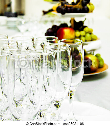 table set for a wedding dinner - csp25021106