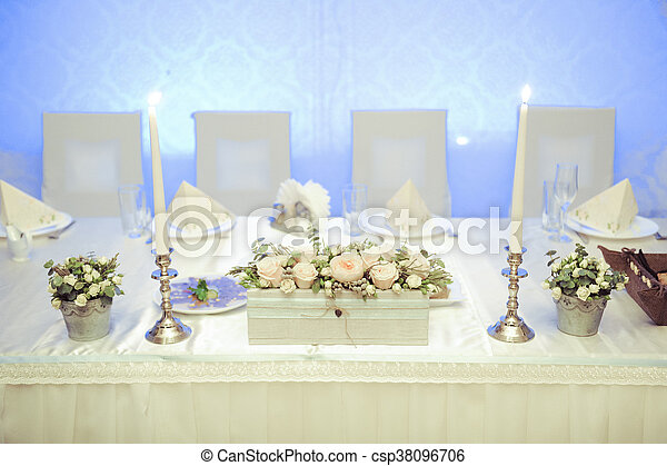 Table set for a wedding dinner - csp38096706