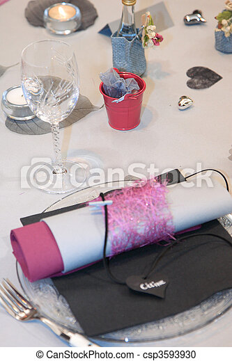 Table set for a wedding - csp3593930