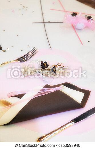 Table set for a wedding - csp3593940