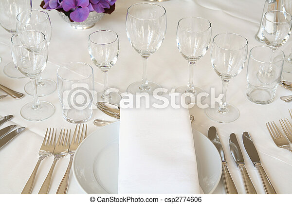 table setting cutlery - csp2774606 & Table setting cutlery. Table setting for fine dining or party ...