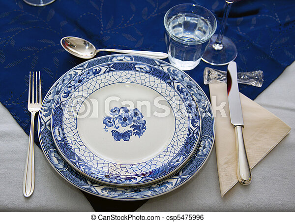 table setting Dinner table - csp5475996