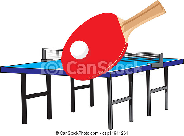 table tennis equipment olympic sport in which two or four clip rh canstockphoto com ping pong table clipart free ping pong clipart