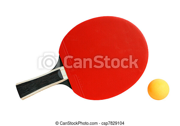 Table tennis racket and ball - csp7829104