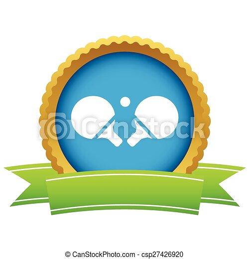 Table tennis racket icon - csp27426920