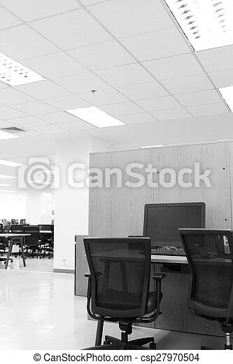 Table, travail, moderne, bureau, informatique.