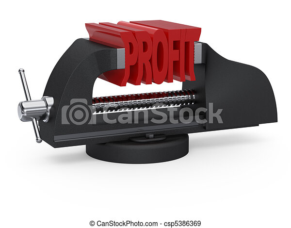 Table vise squeezing profit - csp5386369