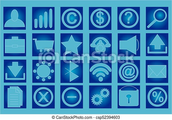 Table with set of icons - csp52394603