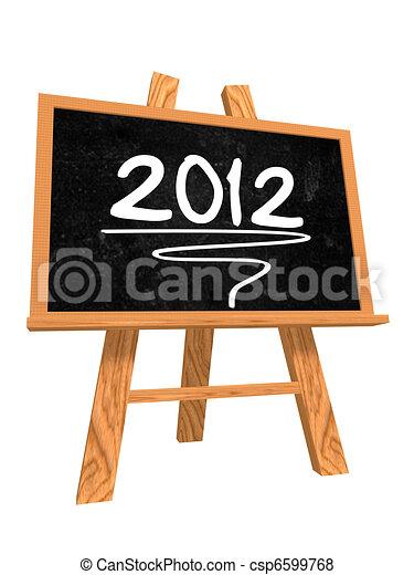 tableau noir, 2012 - csp6599768