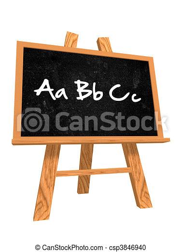 tableau noir, abc - csp3846940