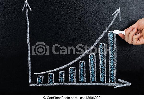 tableau noir, projection, concept, diagramme, business - csp43606092
