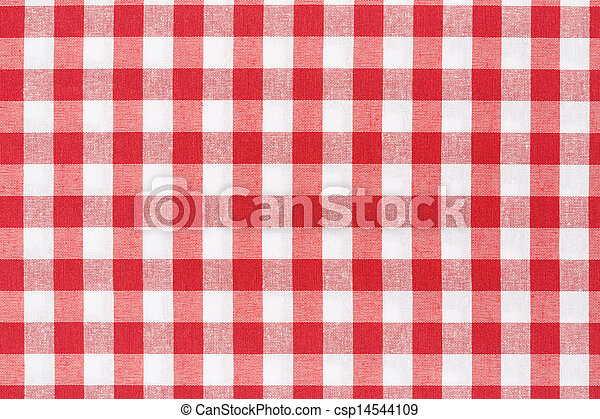 Tablecloth Red And White Texture   Csp14544109