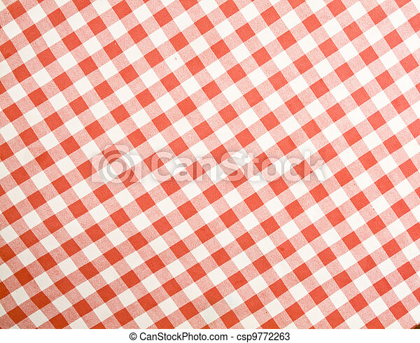 Tablecloth texture-checked fabric - csp9772263