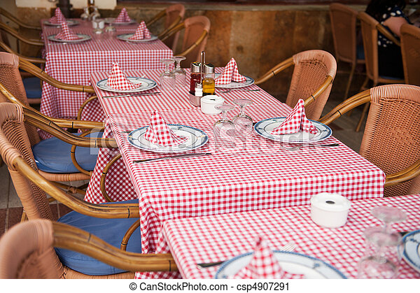 tables at the terrace - csp4907291