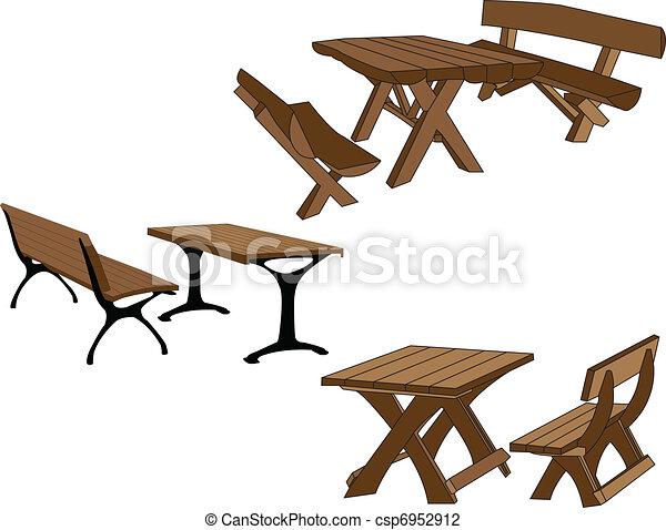 tables, garez banc - csp6952912
