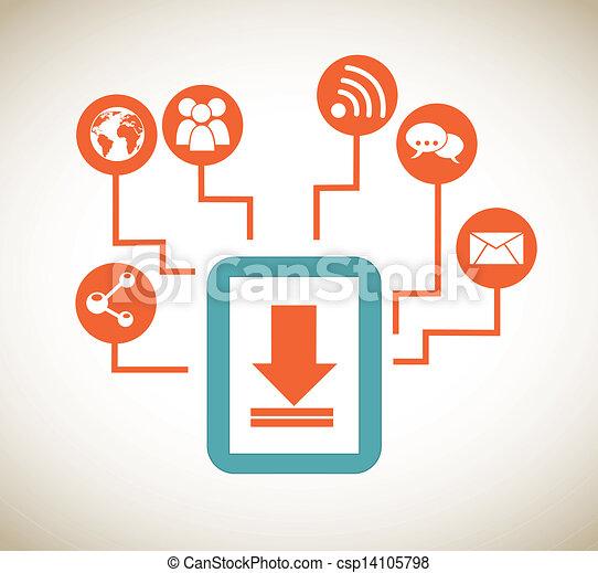 tablet apps - csp14105798