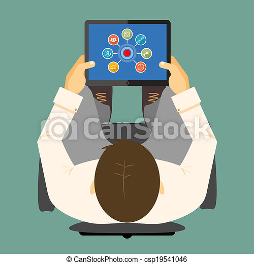 tablet, computer, seo, infographics - csp19541046