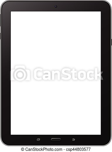 Tablet isolated with blank screen - csp44803577