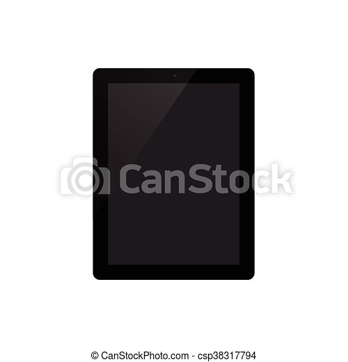Tablet on white background vector illustration - csp38317794