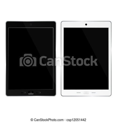 Tablet pc on white background - csp12051442