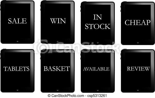 Tablet pc web buttons - csp5313261