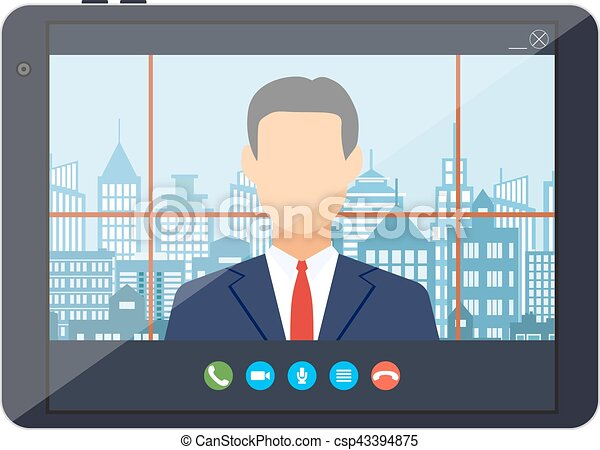 Tablet pc with internet conference app