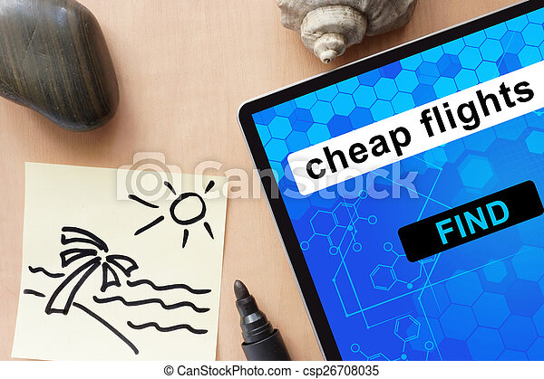 Tablet with cheap flights.  - csp26708035