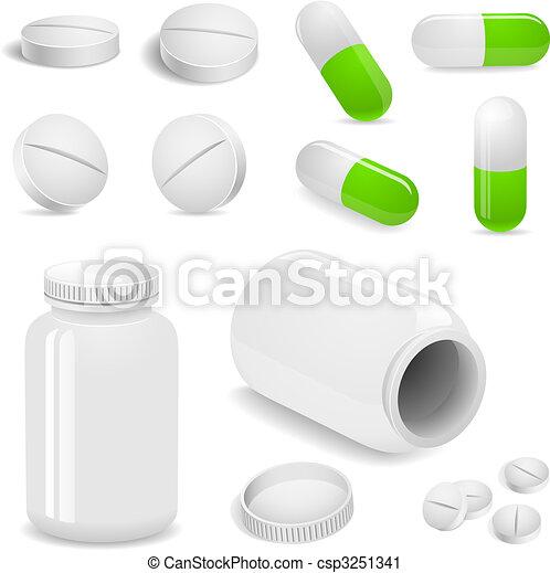 Tabletas y pastillas - csp3251341